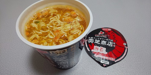 『札幌スープカリー専門店 奥芝商店監修 海老だしスープカレー味ラーメン』
