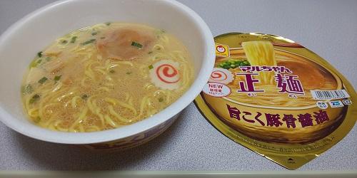 『マルちゃん正麺 旨こく豚骨醤油』