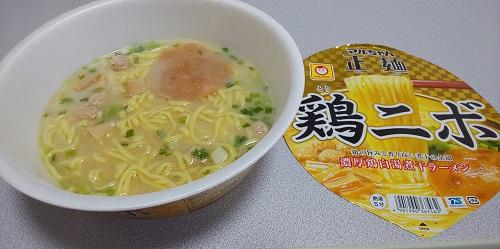 『マルちゃん正麺 鶏ニボ』